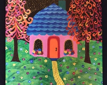 The Starmaker's Cottage - Canvas Giclee Print