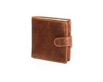 Soft Brown Leather Wallet & Card Holder | Money Bag