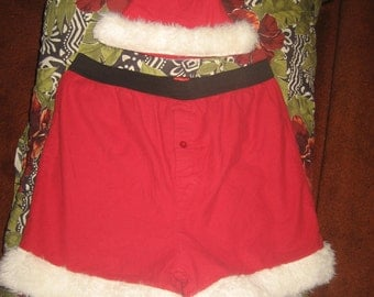 Santa Boxer Shorts and Santa Hat