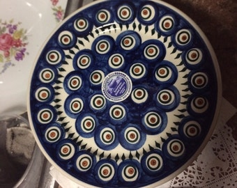 Polish Pottery Salad luncheon Plate