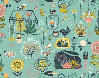 Glass House - Hidden Garden - Birch Fabrics - Organic Cotton - Poplin by the Yard