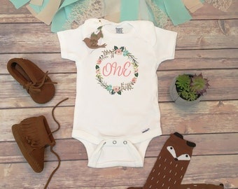 One Baby Bodysuit, First Birthday Outfit Girl, Birthday Onesie®, Baby Girl Clothes, Baby Shower Gift, Boho Baby Clothes, Cute Baby Clothes