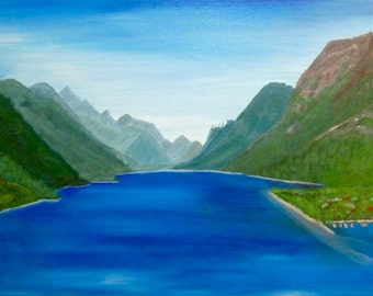 Waterton Lakes, Alberta - Acrylic Painting