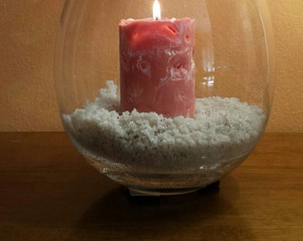 CANDLE SOY ice effect - soy candle - candle ice - ice candle - ghiaccioa effect