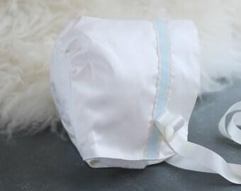 James Christening Bonnet/Baptism bonnet for Boys/Boys Christening Cap/Baptism Cap/Blessing bonnet/Blessing hat/Adore Baby