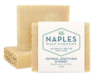 Oatmeal Goat's Milk And Honey Natural Soap