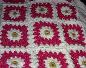 Flowers and glittery Pink Infant blanket