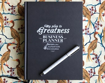 My Plan to Greatness: Business Planner (Black)