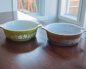 Vintage Pyrex woodland Mixing Bowl(s) 471 - Pyrex Spring Blossom Green 471