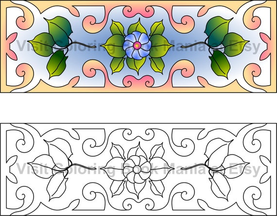 Flowers and Leaves - 8 delightful BOOKMARKS to COLOR - Download & print for yourself!!!