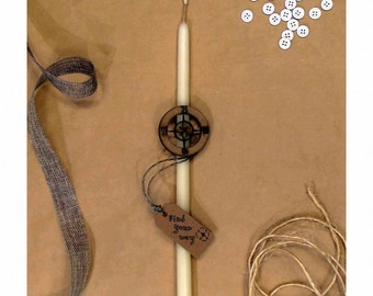 Easter gifts for him etsy greek easter candle wooden compass greek easter gift orthodox easter gift for negle Images