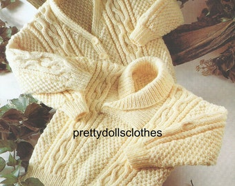 Baby/Childs Sweater and V Neck Cardigan Knitting Pattern.