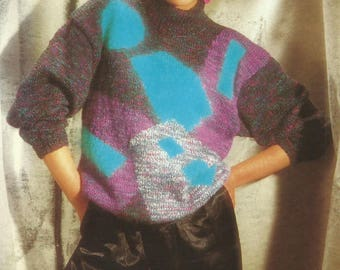 Vintage Ladies Sweater Knitting Pattern.