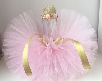 Light Pink tutu and headband set, Pink tutu and crown headband, newborn tutu set. Baby tutu,Newborn Photo Prop