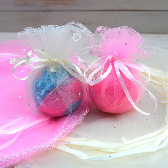 Organza bags to gift wrap bath bombs wedding favors gifts
