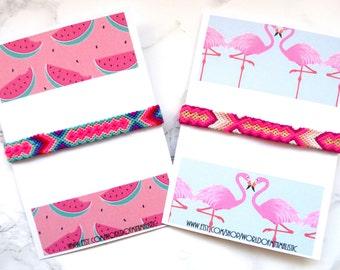 Neon friendship bracelet, woven bracelet, macrame bracelet, bohemian jewelry, turquoise pink bracelet, bff bracelet, beach jewelry