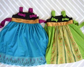 disney princess dress, Anna inspired costume, coronation,  everyday, birthday, party, Disneyland, disneyworld, 3 6 12 18 2t 3t 4t 5t 6 7 8