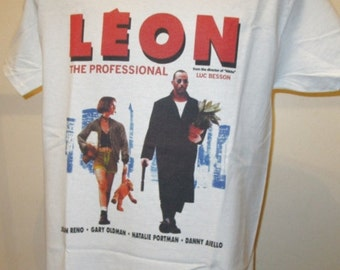 Leon : The Professional Cult 90s Hitman Crime Film T Shirt - Retro Movie Apparel Unisex Fashion Graphic Tee Men & Women 201