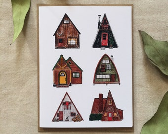 'Small cottages' gift card