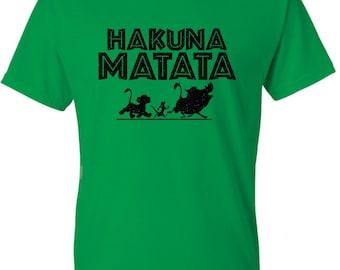Hakuna Matata Glitter Disney tshirt