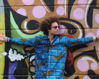African Longline Shirt- Allagi Shirt - Dashiki Shirt - Unisex - oversized shirt - Festival Shirt - Wax Shirt - African Shirt - Festival Top