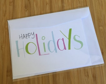 CARD - Happy Holidays - Greeting Card