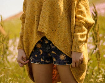 Vintage Over-sized Yellow Knit Sweater