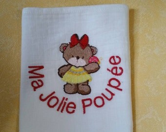 Doudou baby embroidery