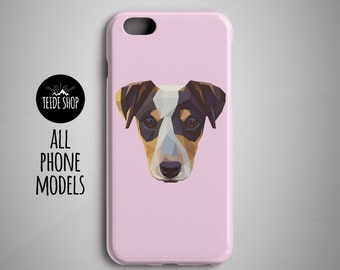Geometric Jack Russell Terrier iPhone 8 Case iPhone 8 Plus Case iPhone 7 Case iPhone 6S Case iPhone 6 Case iPhone 7 Plus Case Dog Pet Gift