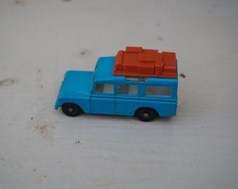 Vintage 1965 Lesney Matchbox Series #12 Blue Land Rover ~ Made in England