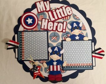 My Little Hero Scrapbook Page