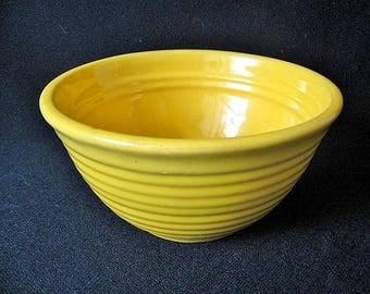 "Yellow Bauer Ringware Bowl # 36 -- 5 5/8"" Wide at Rim"