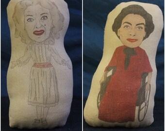 Bette Davis Joan Crawford lo que sucedió al bebé Jane inspirado peluches personalizados (hechos a mano relleno suave Plushy ornamento) Blanche Hudson