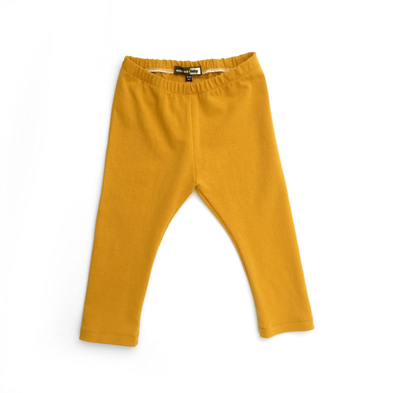 Mustard Yellow Leggings, baby leggings, toddler leggings ...