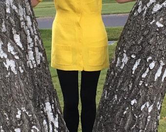 Vintage Yellow Cardigan Sweater