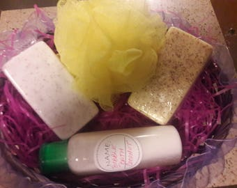 Beautiful Soap Gift Basket