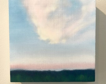 Days End, original oil painting, skyscape