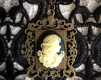 Victorian Inspired Silhouette Cameo Necklace