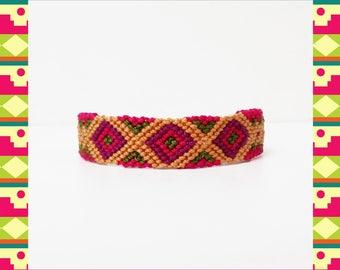 Woven Friendship Bracelet Ethnic Native Mayan Aztec Incan women macrame gifts trends tribal pura vida mayan lokai boho - Q'enqo Bracelets