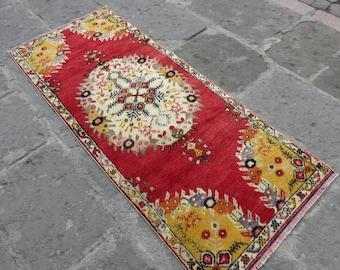Turkish Runner Rug Carpet Runner Colorful Anatolia Runner Hand Knotted Pile  Rug Runner Unique Rug Runner