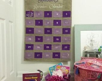 Personalised Fabric Kids Ramadan Advent Calendar