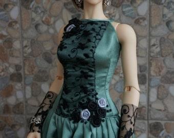 SALE! Green gray dress set for BJD Iplehouse EID dolls