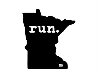Run MN State Outline Magnet