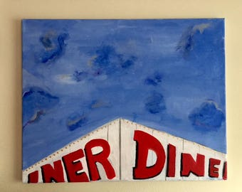 Mill Plain Diner on a Sunny Day
