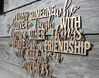 Marry Someone Metal Wall Decor