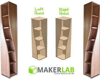 Solid Oak Book Shelf with a Twist
