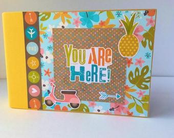 Vacation Scrapbook Album, Premade Scrapbook Album, Travel Scrapbook, Mini Scrapbook, Mini Album, Travel Gift, Mother's Day Gift, Photo Album