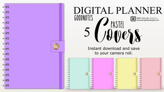 Digital planner covers for ipad goodnotes pastel bundle pronofoot35fo Gallery