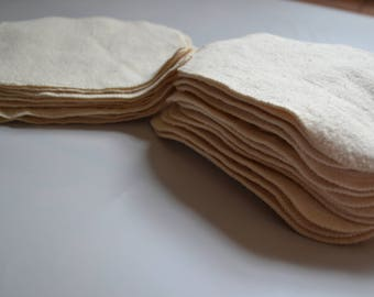 """Cloth baby wipes- 12 flannel baby wipes 7"""" x 7"""""""