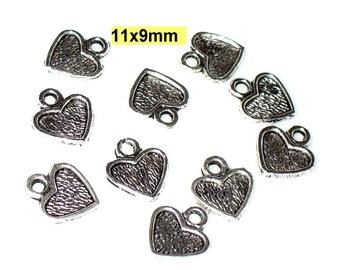 10 followers heart Tibet silver 11 mm (141.11)